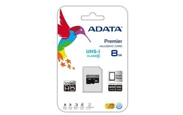 ADATA 8GB Micro SD SDHC class 10/UHS-I Premier - NEJCENY.cz