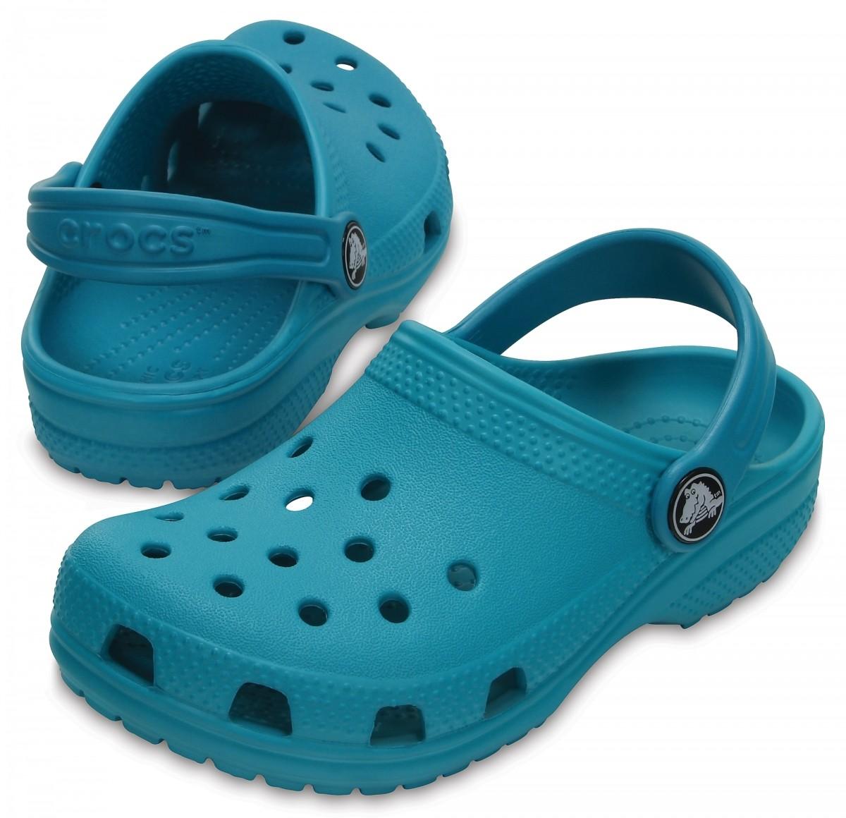 Pantofle (nazouváky) Crocs Classic Clog Kids - Turquoise 972a9905b5