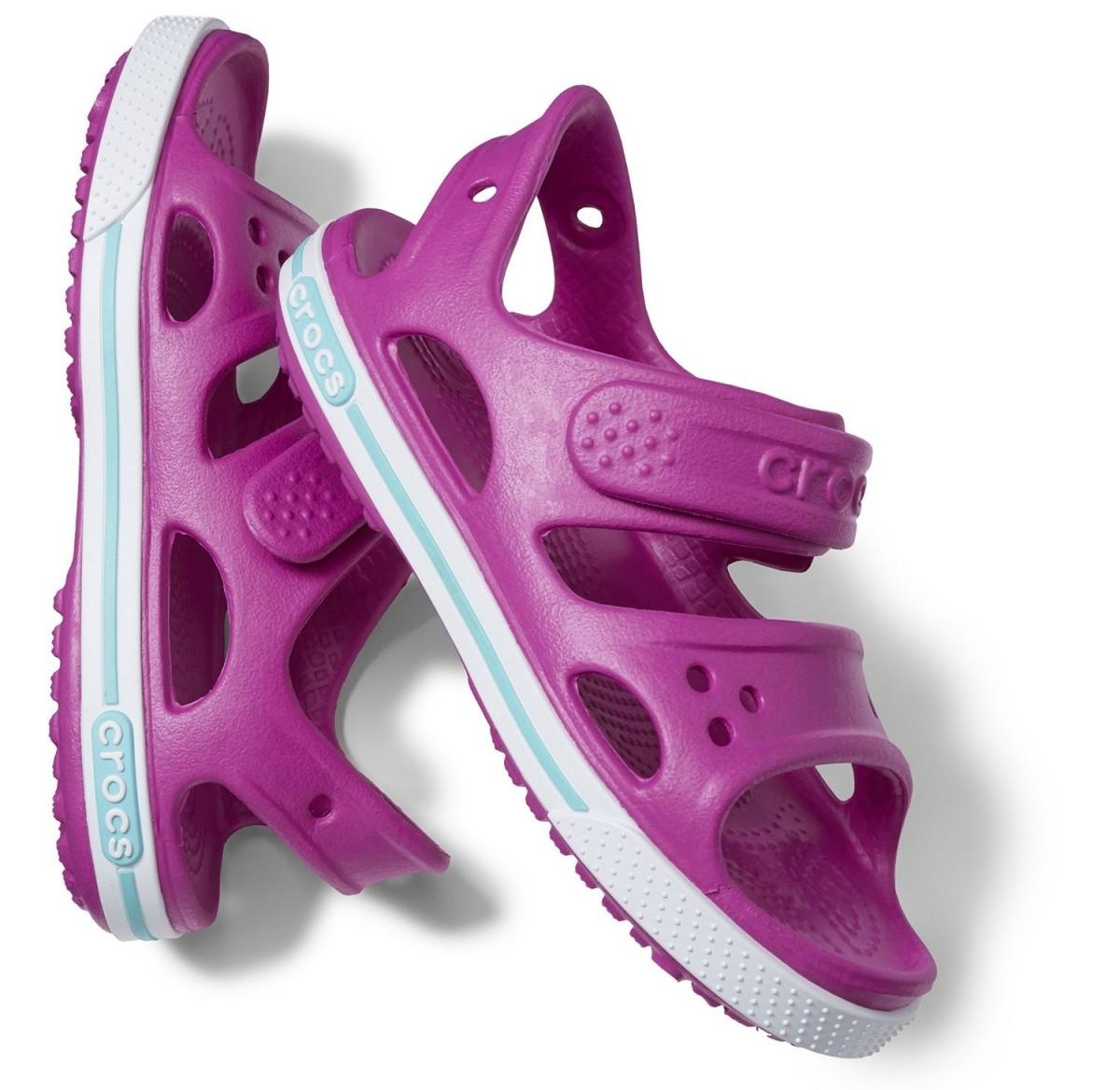 Dětské sandály Crocs Crocband II Sandal PS Vibrant Violet   White  7  afa9271b4b