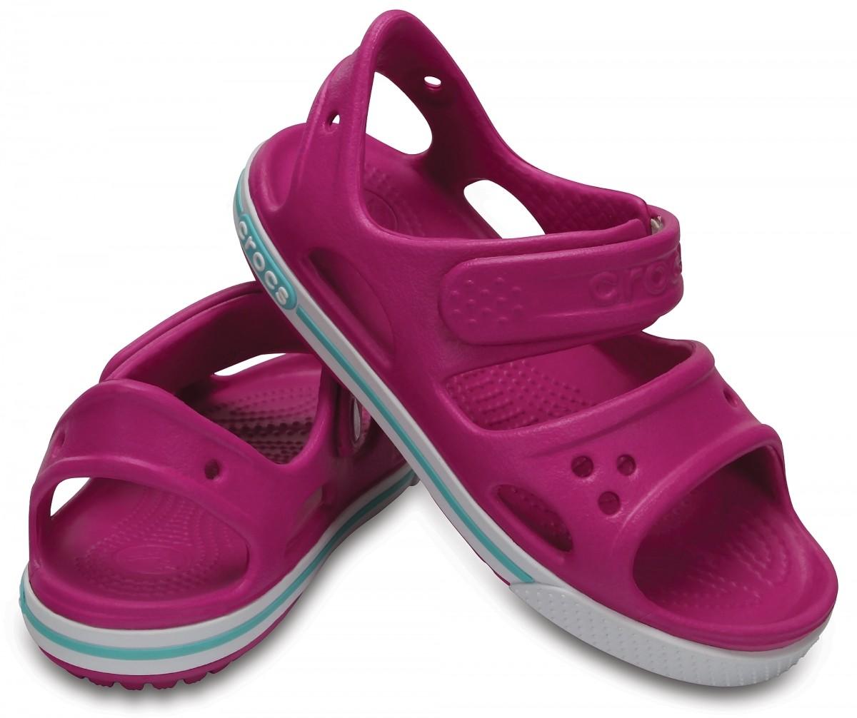 Dětské sandály Crocs Crocband II Sandal PS Vibrant Violet   White  4  bc09fd919e