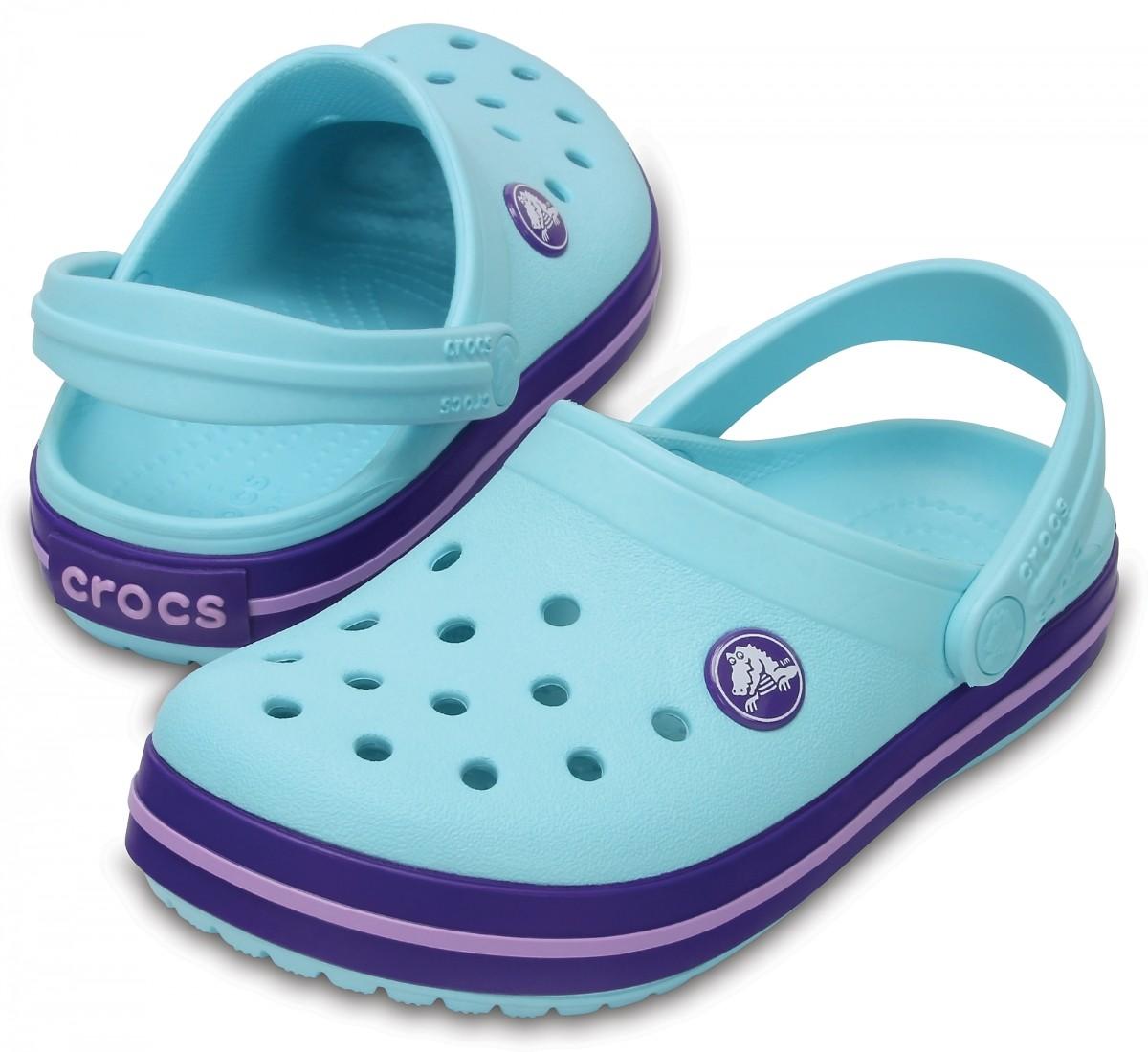 Dětské pantofle (nazouváky) Crocs Crocband Kids - Ice Blue 2a8e219f11