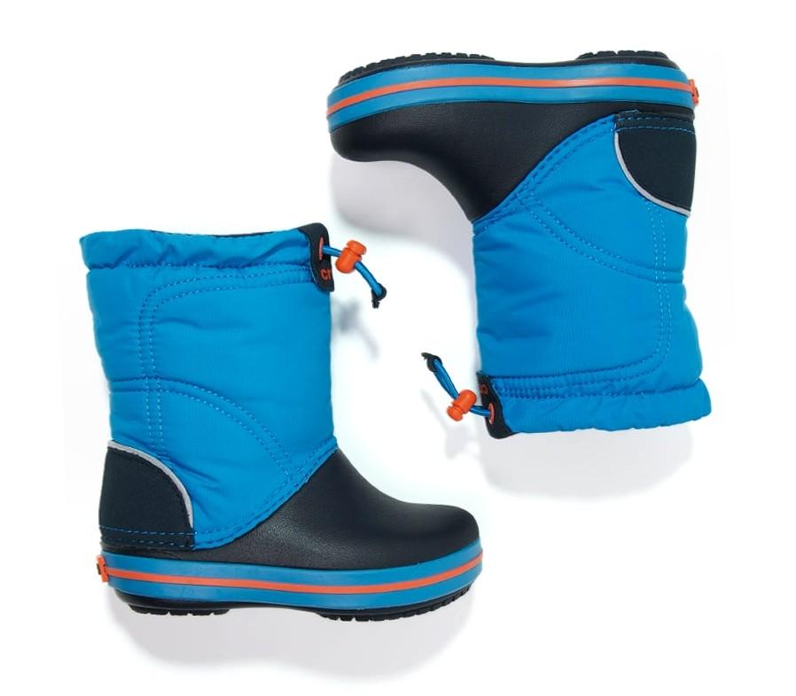 Dětské sněhule Crocs Crocband LodgePoint Boot Kids - Ocean Navy 11aada86ac
