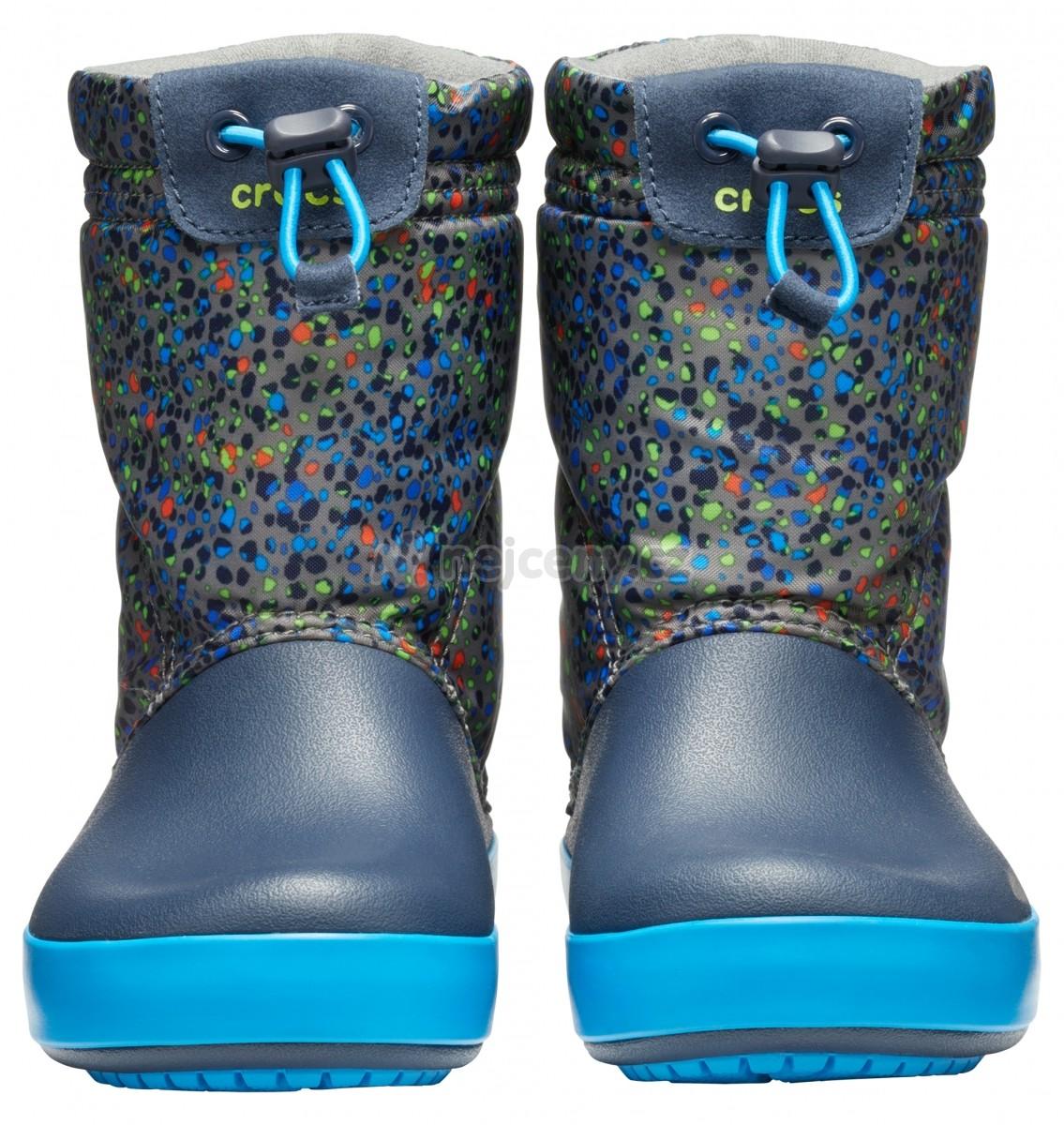 Dětské sněhule Crocs Crocband LodgePoint Graphic Boot Kids - Slate ... bc051e1b71