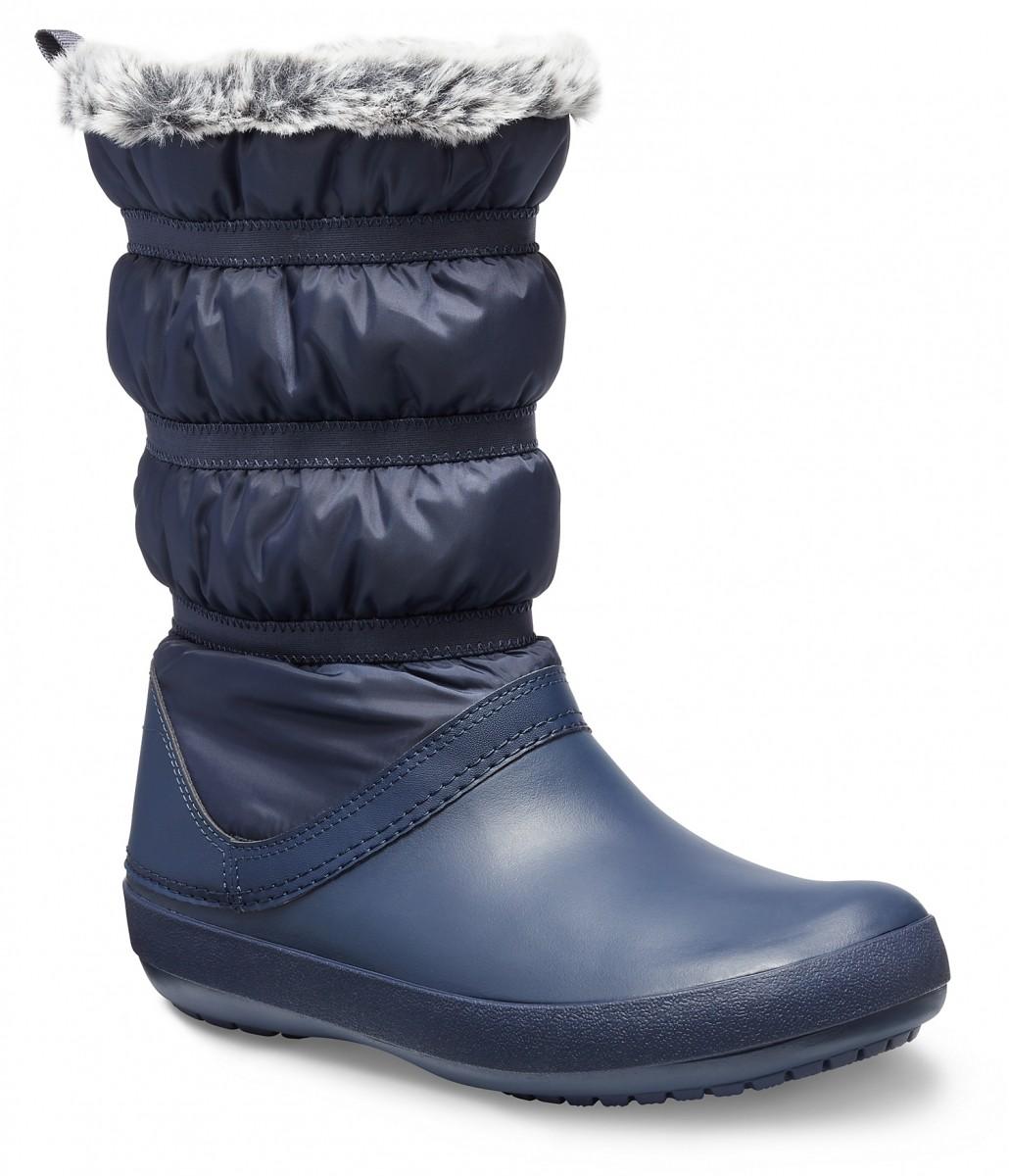 Dámské sněhule Crocs Crocband Winter Boot Women - Navy 38b9202394