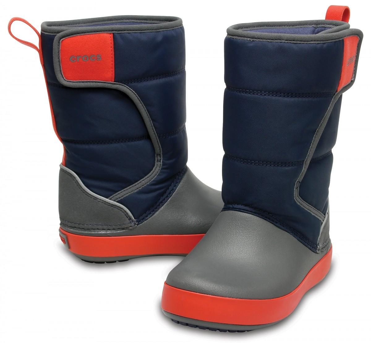 Dětské sněhule Crocs LodgePoint Snow Boot Kids - Navy Slate Grey 381ef7505d