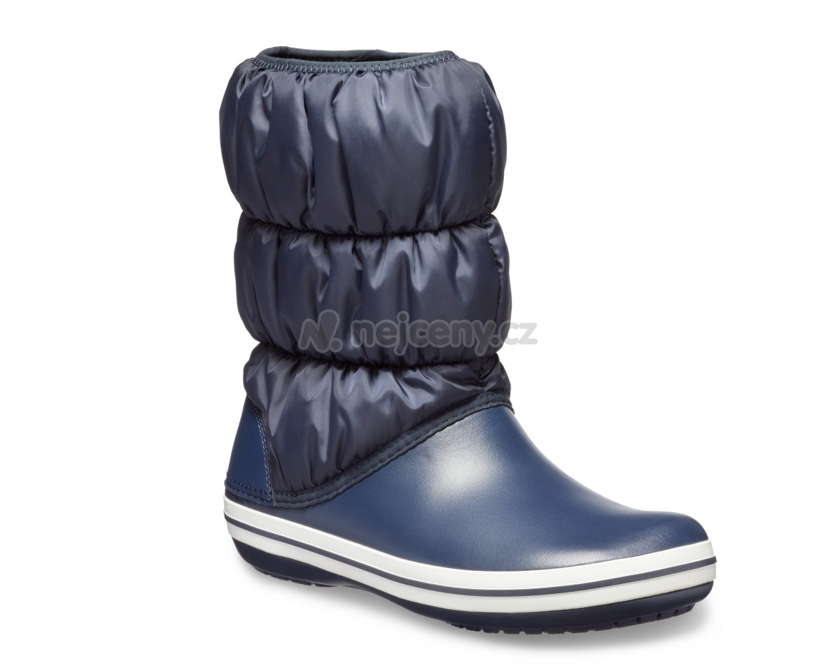 Dámské sněhule Crocs Winter Puff Boot Women - Navy White cae2bbf2ec