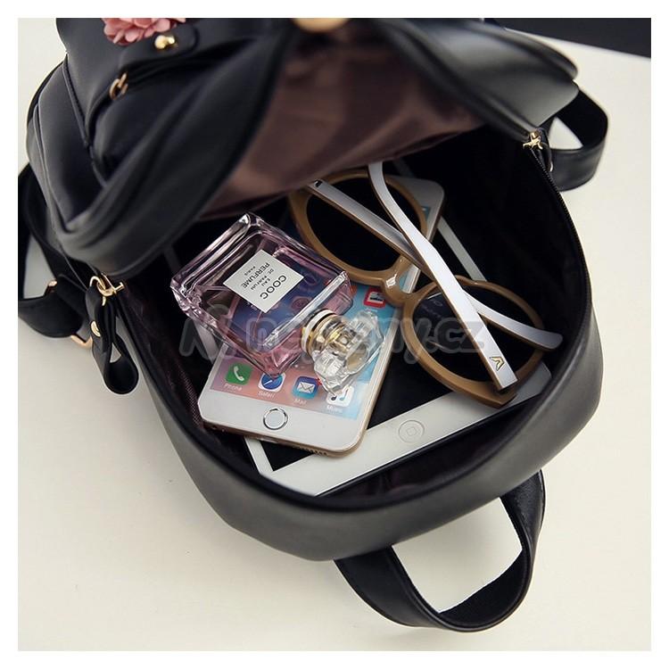 Elegantní módní batoh PL104 pro dámy i studenty - černá - NEJCENY.cz ff307f9640