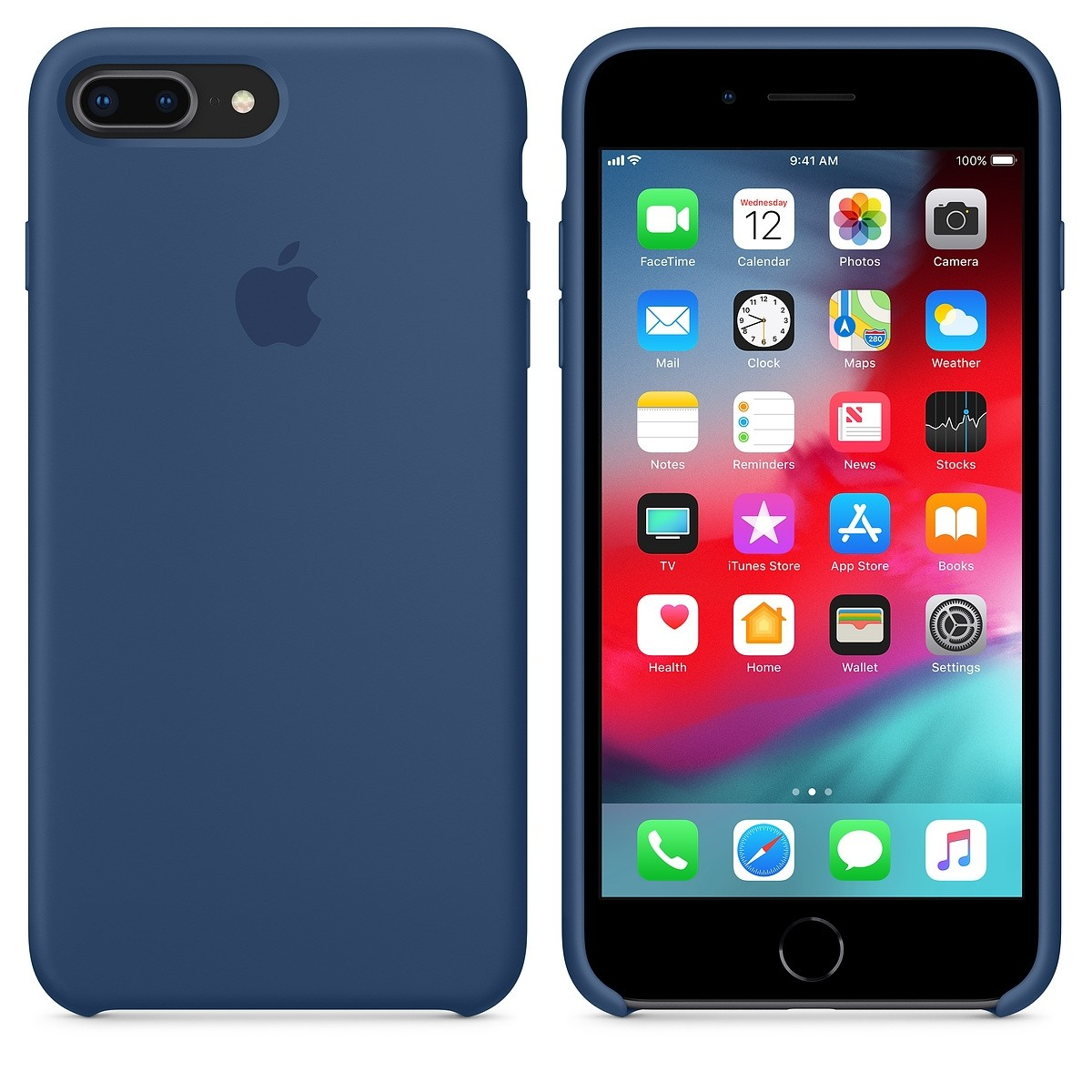 Kryt (obal) na mobil Apple iPhone 8 7 Plus Silicone Case - kobaltově ... 0cb8381dbdb