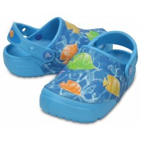 Dětské pantofle (nazouváky) Crocs Fun Lab Lights Fish, Electric Blue [4]
