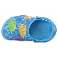 Dětské pantofle (nazouváky) Crocs Fun Lab Lights Fish, Electric Blue [5]