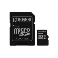 32GB microSDHC Kingston CL10 UHS-I 80R + SD adap. (2)