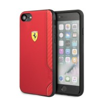 FESITHCI8RE Ferrari On Track Rubber Soft Kryt pro iPhone 7/8/SE2020 Red [1]
