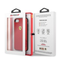 FESITHCI8RE Ferrari On Track Rubber Soft Kryt pro iPhone 7/8/SE2020 Red [4]