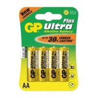 Alkalické baterie GP Ultra Plus AA 1.5V, 4ks