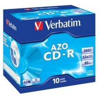 Médium Verbatim CD-R 700MB 80min 52x Crystal jewel