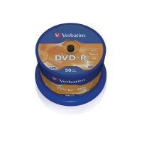 Média DVD-R Verbatim 4.7GB 16x, CakeBox, 50 kusů