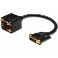 PremiumCord Adapter DVI-D (24+1) male => 2x DVI-D (24+1) female