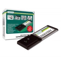 DIGITUS Wireless 300N ExpressCard, 300MbpsIEEE 802.11n, 128-Bit WEP, WPA, WPA2 encryption Ralink 2T/3R,Win2000/XP/VIST