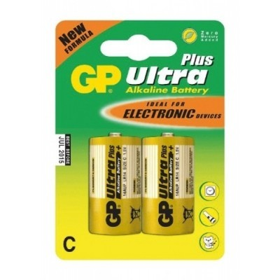 Alkalické baterie GP Ultra Plus C 1.5V, 2ks