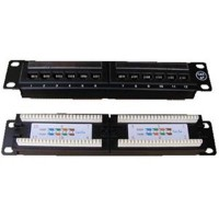 "Patch panel 10"" UTP cat.5e 12portů"