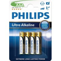 Ultra alkalické baterie Philips ExtremeLife AAA 1.5V, 4ks
