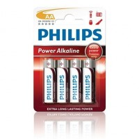 Alkalické baterie Philips PowerLife AA 1.5V, 4ks