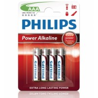 Alkalické baterie Philips PowerLife AAA 1.5V, 4ks