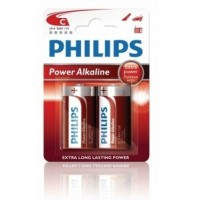 Alkalické baterie Philips PowerLife C 1.5V, 2ks