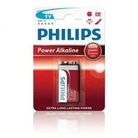 Alkalické baterie Philips PowerLife 9V, 1ks