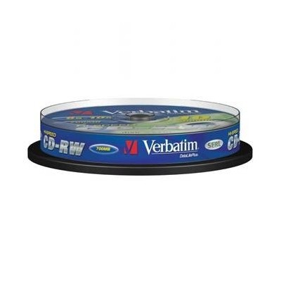 Verbatim DataLife PLUS, 700 MB, CD-RW, Scratch Resistant, cake box, 43480, 8-12x, 10-pack, pro archivaci dat