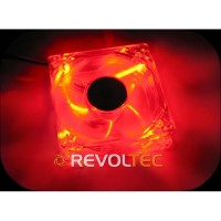 Revoltec Fan Dark Red, 120x120x25 mm, 4 x red LED