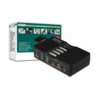 Digitus USB Soundbox, 7.1 channel, for full-duplex recording and play-back