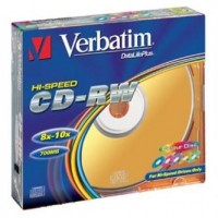 Verbatim DataLife PLUS, 700 MB, CD-RW, Color, slim box, 43167, 8-12x,5-pack, pro archivaci dat