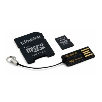 Kingston 4GB Mobility Kit G2 (microSD+adapt+čteč.)