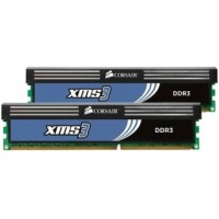 Corsair XMS3 4GB (Kit 2x2GB) 1600MHz DDR3, CL9 (9-9-9-24), 1.65V, chladič, XMP