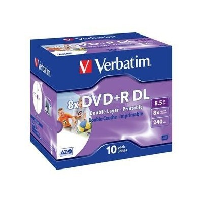 Verbatim DVD+R, DoubleLayer/8x/8,5GB/10pack/Print