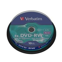VERBATIM DVD-RW(10-Pack)Spindle4x/DLP/4.7GB