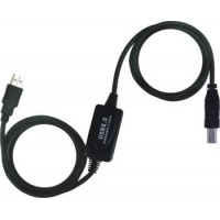 PremiumCord USB 2.0 repeater a propojovací kabel A/M-B/M 10m