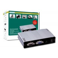 DIGITUS VGA Video Extender and Splitter over Cat51 local, 4remote up to 180 m (CAT5, UTP) resolution 1280X1024 at 60Hz