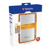 "VERBATIM Hard Drive 2,5"" 500GB USB 3.0 Box"