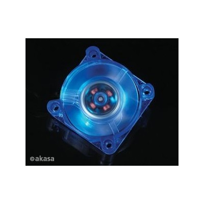 Akasa 4 cm x 1 - blue LED - chipset - sleeve