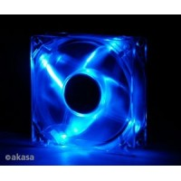 Akasa 8 cm - crystal blue LED - sleeve