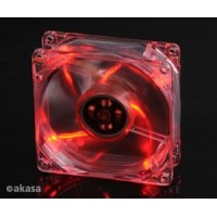 Akasa 8 cm - crystal red LED - sleeve