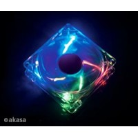 Akasa 12 cm - crystal clear - 4 colour LED -sleewe