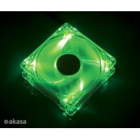 Akasa 12 cm - crystal green LED - sleeve