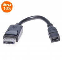 PremiumCord DisplayPort adapter na mini,   DP/Male - mini DP/Female, 17cm