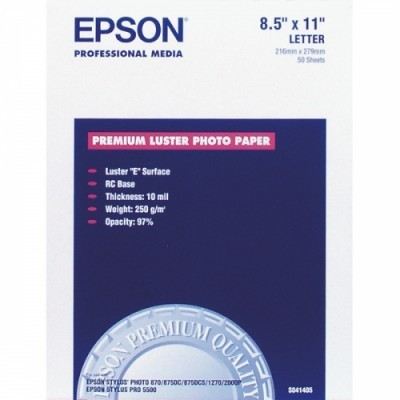 Papír Epson Premium Luster Photo | 260g | A3+ | 100sheets