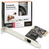 AXAGO PCI-Express Gigabit Ethernet Realtek + LP