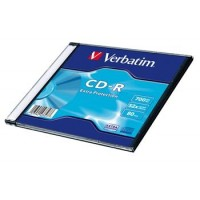 VERBATIM CD-R 700MB, 52x, slim case 200 ks
