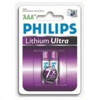 Lithiové baterie Philips Lithium Ultra AAA 1.5V, 2ks